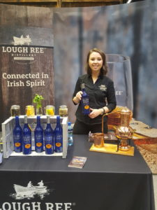 Claire with Sling Shot Gin at Whiskey Live